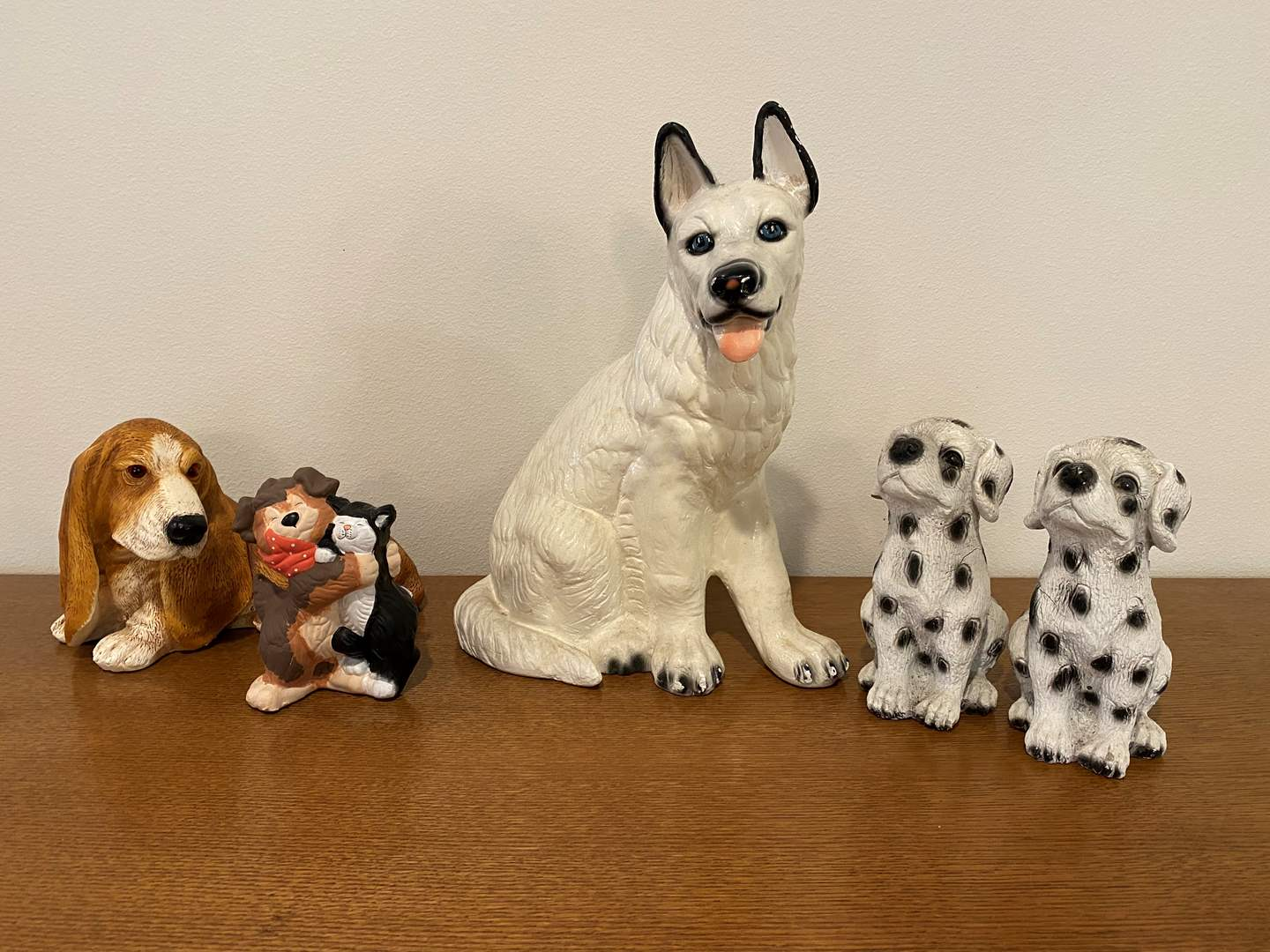 Lot # 100 - Vintage Cement, Ceramic & Resin Dogs (main image)