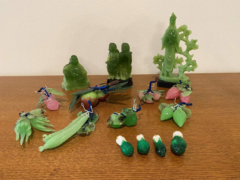 Lot # 101 - Misc. Jade & Glass Items (main image)