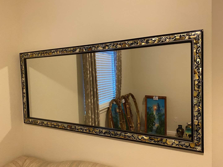 Lot # 113 - Beautiful Large Mirror w/Abalone Shell Inlay (main image)