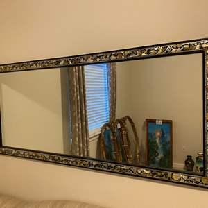 Lot # 113 - Beautiful Large Mirror w/Abalone Shell Inlay