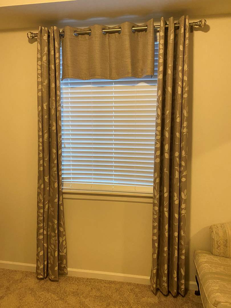 Lot # 114 - Nice Set of Curtains w/Rod (main image)