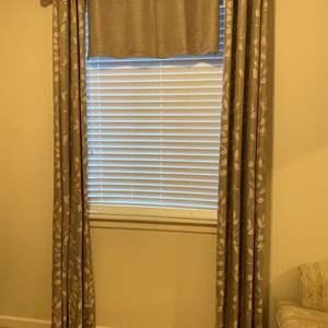 Lot # 114 - Nice Set of Curtains w/Rod