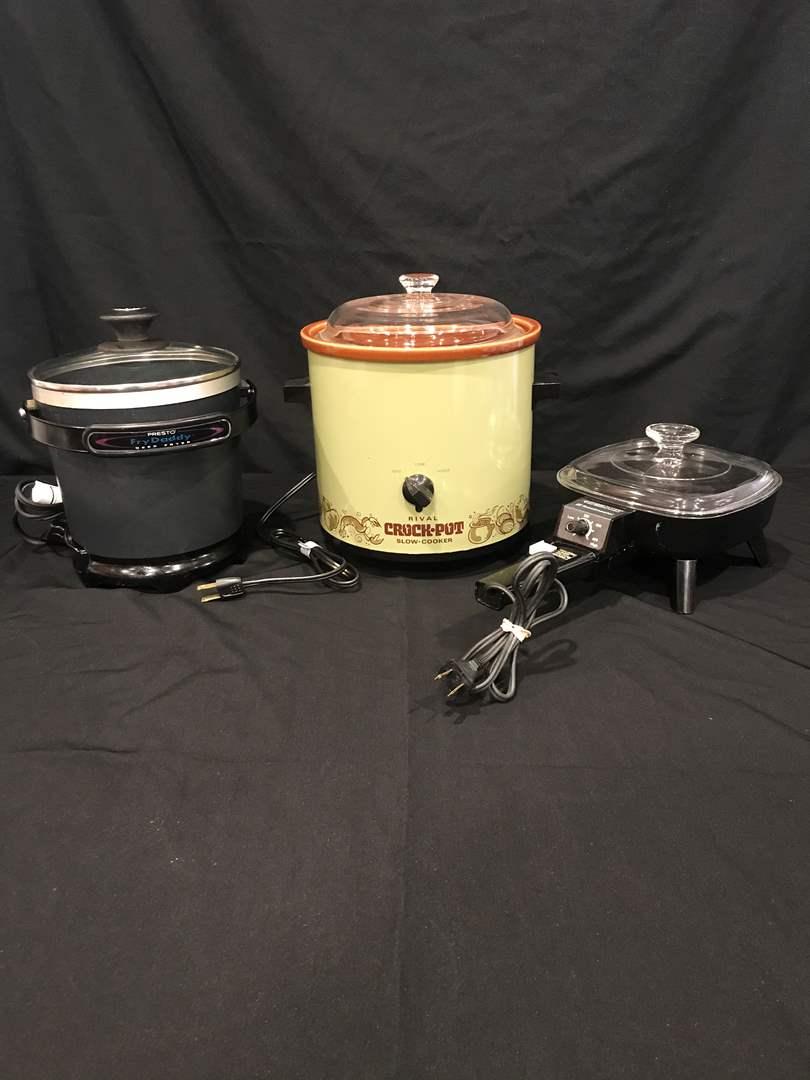 Lot # 79 - Rival Crock Pot, Presto Fry Daddy Deep Fryer, Toastmaster Electric Frying Pan (main image)