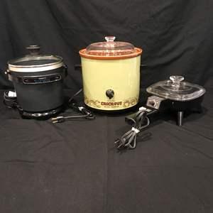 Lot # 79 - Rival Crock Pot, Presto Fry Daddy Deep Fryer, Toastmaster Electric Frying Pan