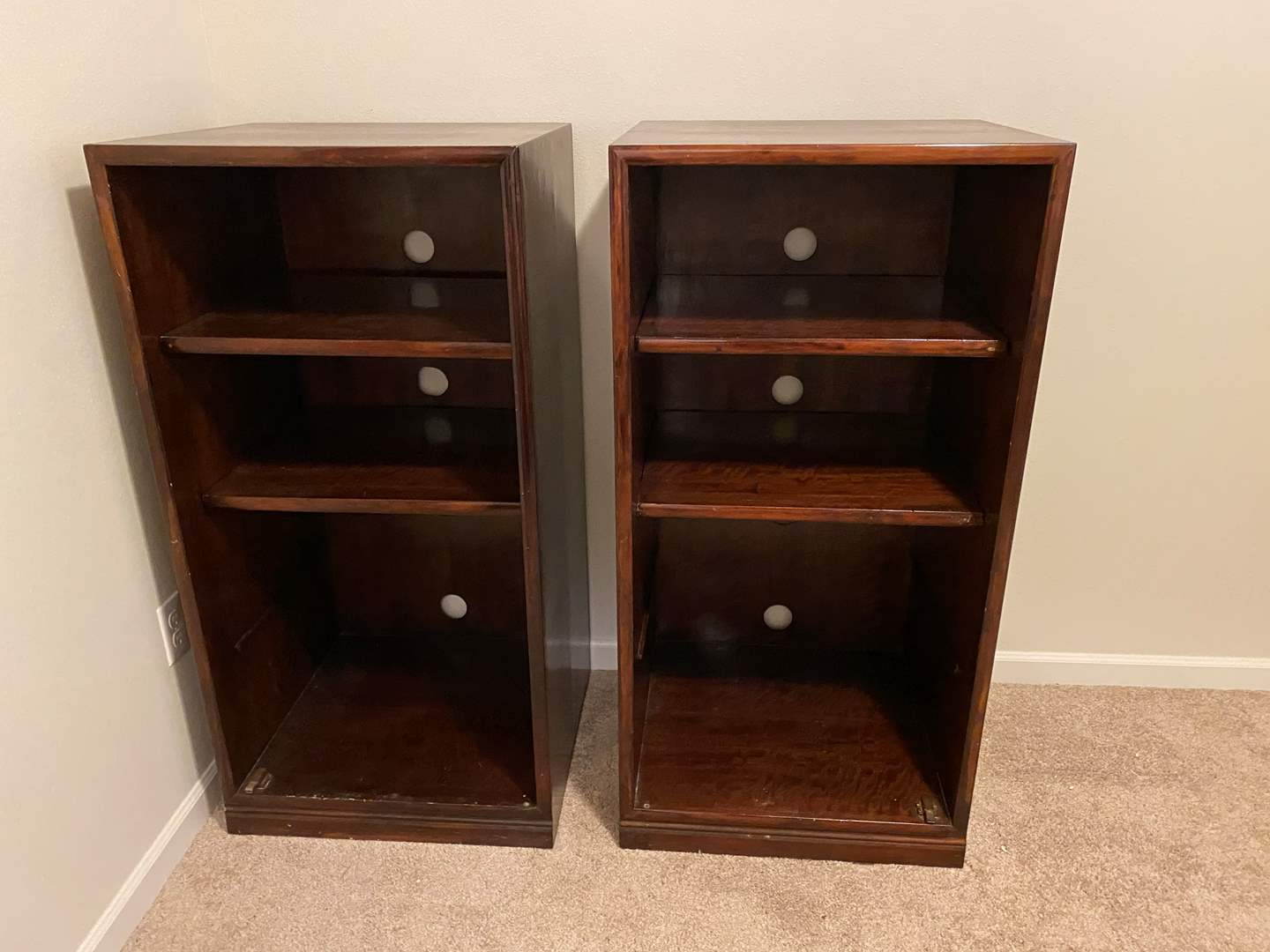 Lot # 119 - Two Wood Media Cabinets (main image)