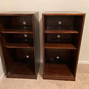 Lot # 119 - Two Wood Media Cabinets