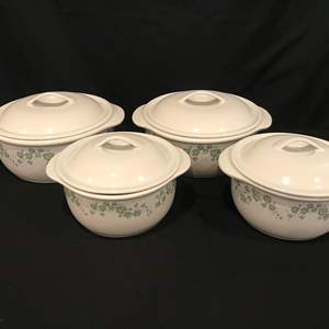 Lot # 84 - 4 Corelle Coordinates Stoneware Baking Dishes