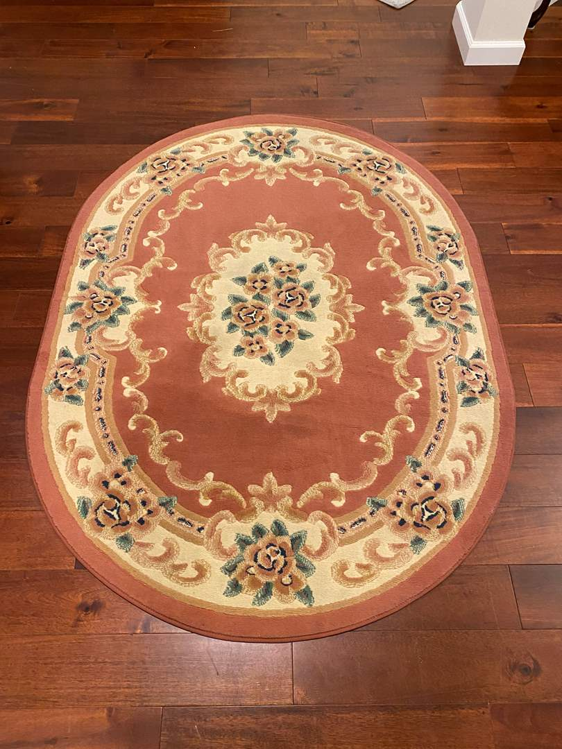 Lot # 126 - Floral Area Rug  (main image)