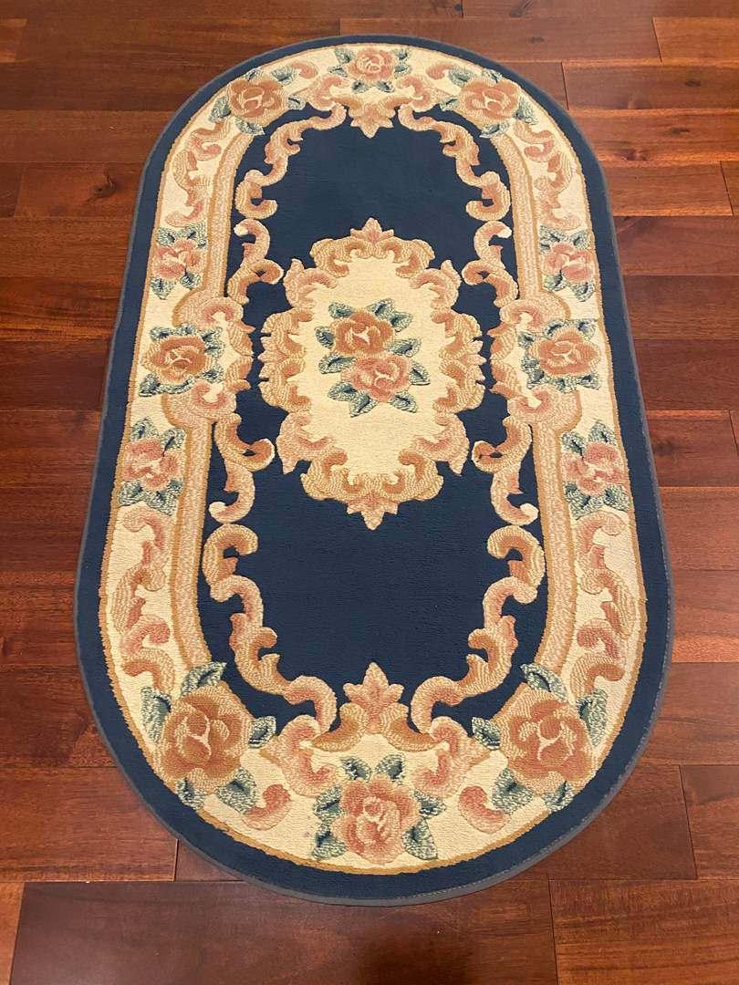 Lot # 129 - Floral Area Rug  (main image)