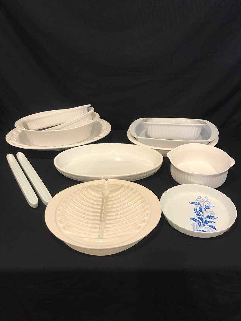 Lot # 87 - Large Selection of Baking Dishes & Serving Platters (main image)