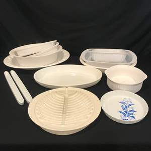 Auction Thumbnail for: Lot # 87 - Large Selection of Baking Dishes & Serving Platters