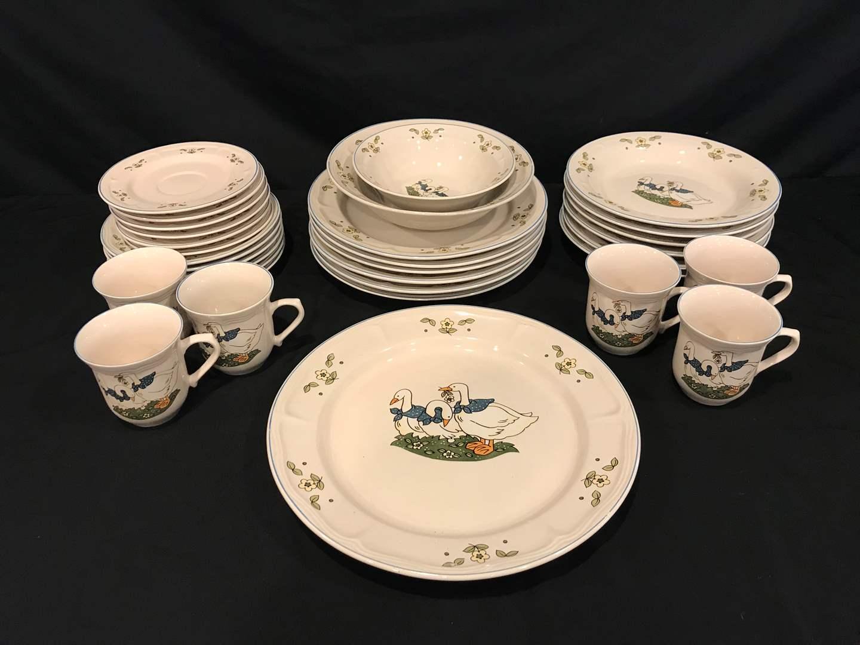 Lot # 88 - Very Cute 33 Piece Set of Mandarin Stoneware (main image)