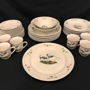 Lot # 88 - Very Cute 33 Piece Set of Mandarin Stoneware