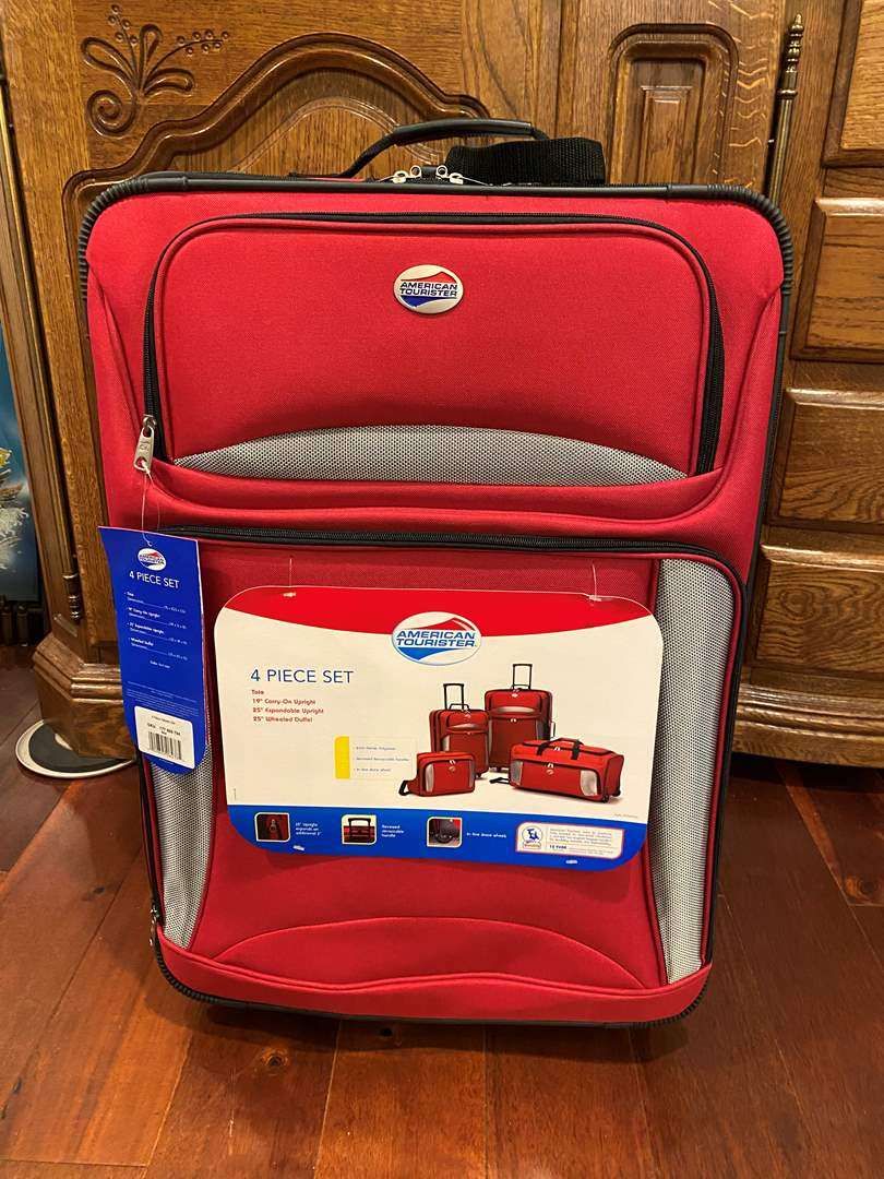 """Lot # 142 - Brand New 4-Piece Set of """"American Tourister"""" Luggage (main image)"""