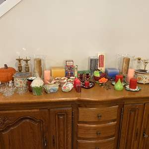 Lot # 154 - Nice Selection of Candles & Candle Holders