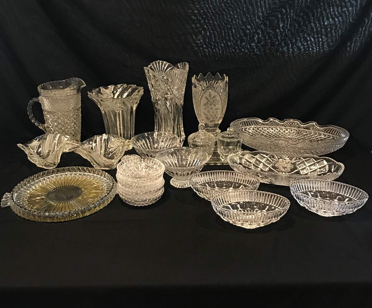 Lot # 99 - Nice Selection of Crystal: Vases, Dishes, Tidbit Trays & More.. (main image)