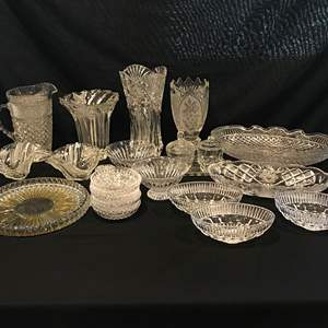 Lot # 99 - Nice Selection of Crystal: Vases, Dishes, Tidbit Trays & More..