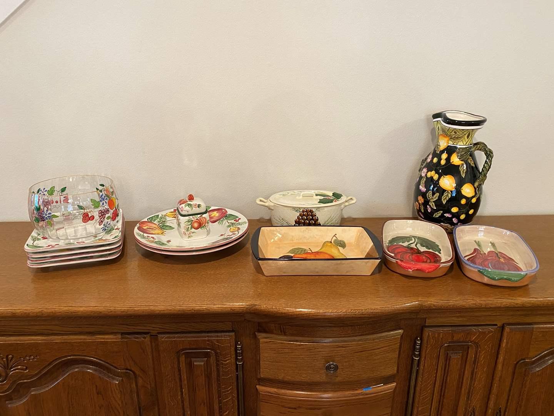 Lot # 158 - Hand Painted Italian Dishware & Other Misc. Dishware (main image)