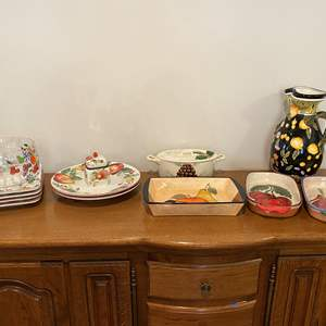 Lot # 158 - Hand Painted Italian Dishware & Other Misc. Dishware