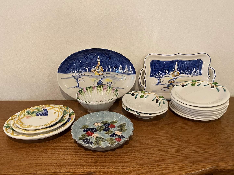Lot # 159 - Hand Painted Italian Dishware & Other Misc. Dishware (main image)