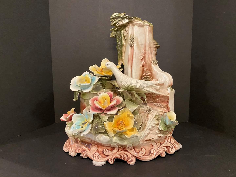 Lot # 162 - Large Capodimonte Floral Arrangement (main image)