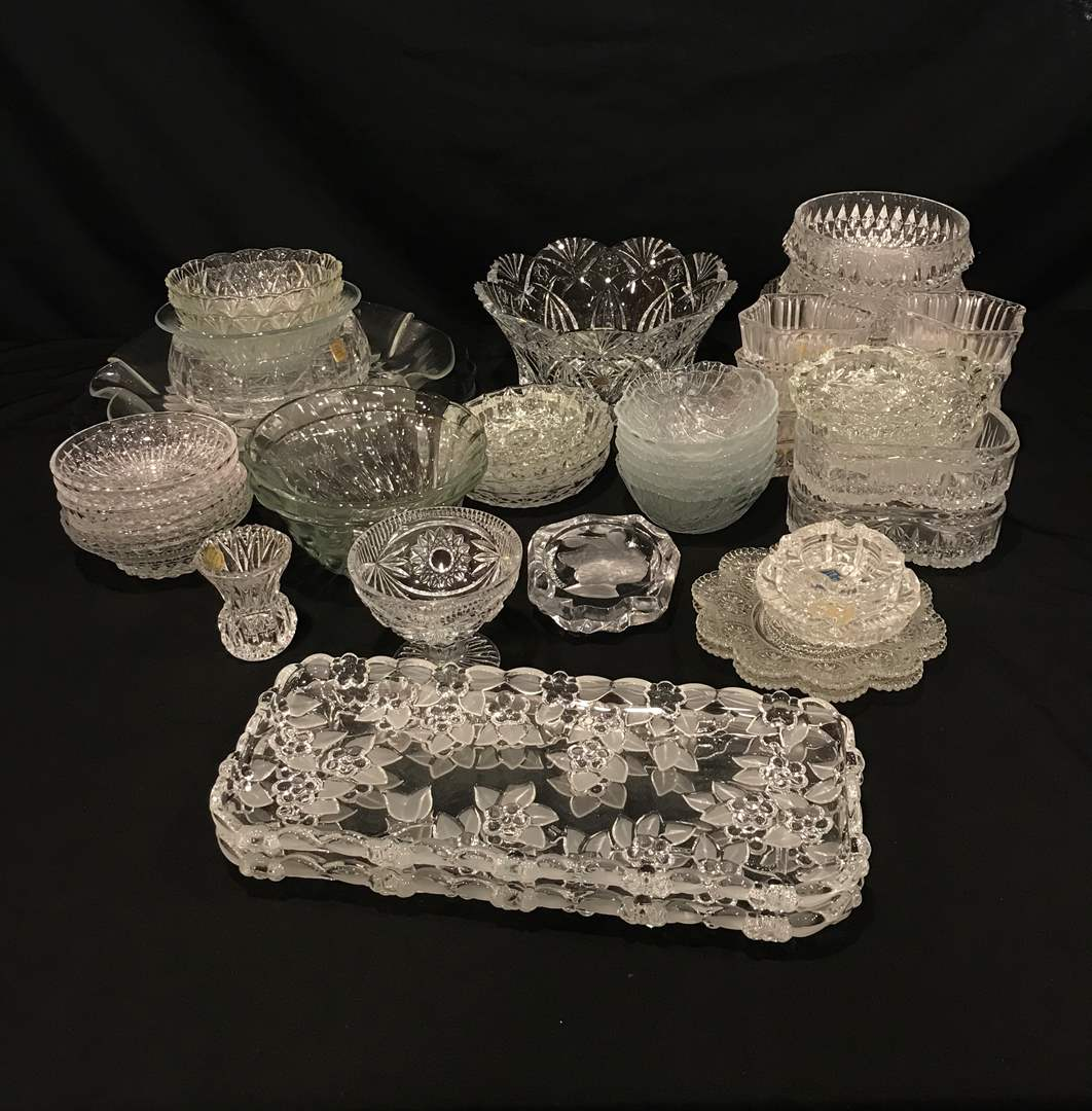 Lot # 206 - Nice Selection of Crystal Serving Dishes, Tidbit Trays, Plates & More.. (main image)