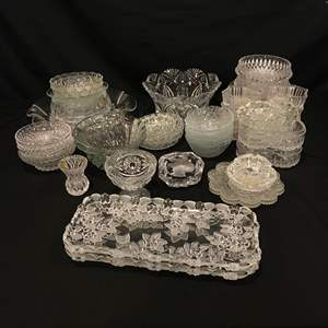 Lot # 206 - Nice Selection of Crystal Serving Dishes, Tidbit Trays, Plates & More..
