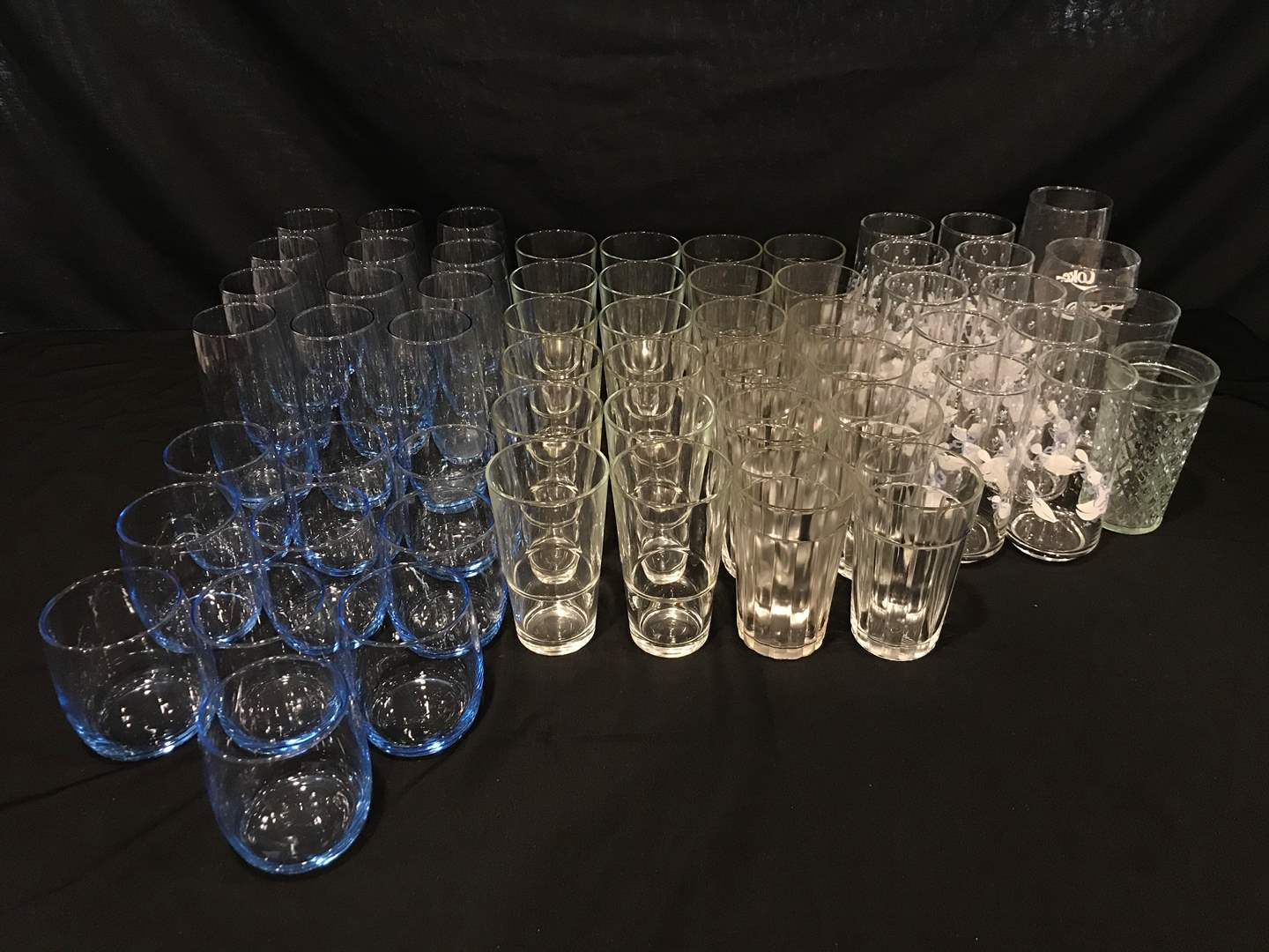 Lot # 207 - Lot of Glasses of Various Sizes (main image)