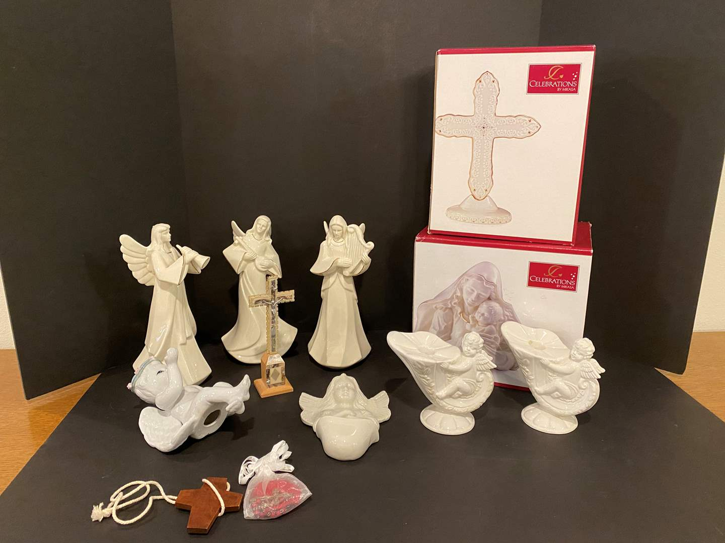 """Lot # 168 - New in Box """"Mikasa"""" Nativity Items, Mikasa Angels & Other Religious Items (main image)"""