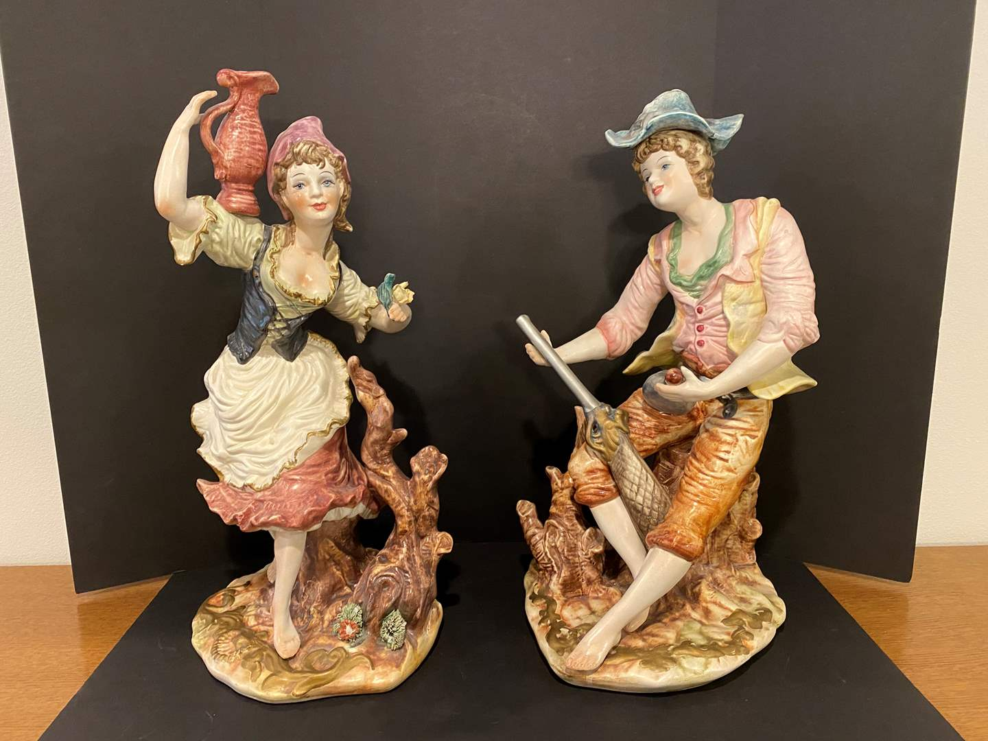"Lot # 173 - Two Large Ceramic Figurines - 26"" Tall  (main image)"