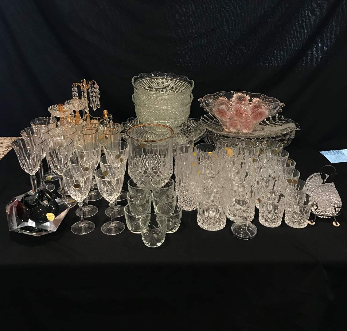 Lot # 210 - Large Selection of Crystal Stemware, Serving Dishes, Bowls, Decor & More..  (main image)