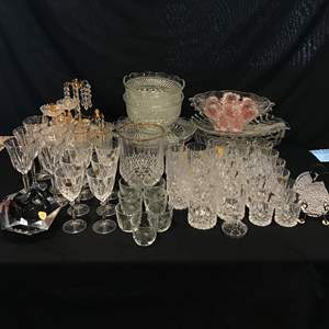 Lot # 210 - Large Selection of Crystal Stemware, Serving Dishes, Bowls, Decor & More..