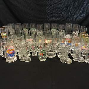 Lot # 211 - Large Collection of German Beer Glasses