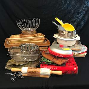 Lot # 214 - Misc. Selection of Trays, Strainers, Place Mats & More..