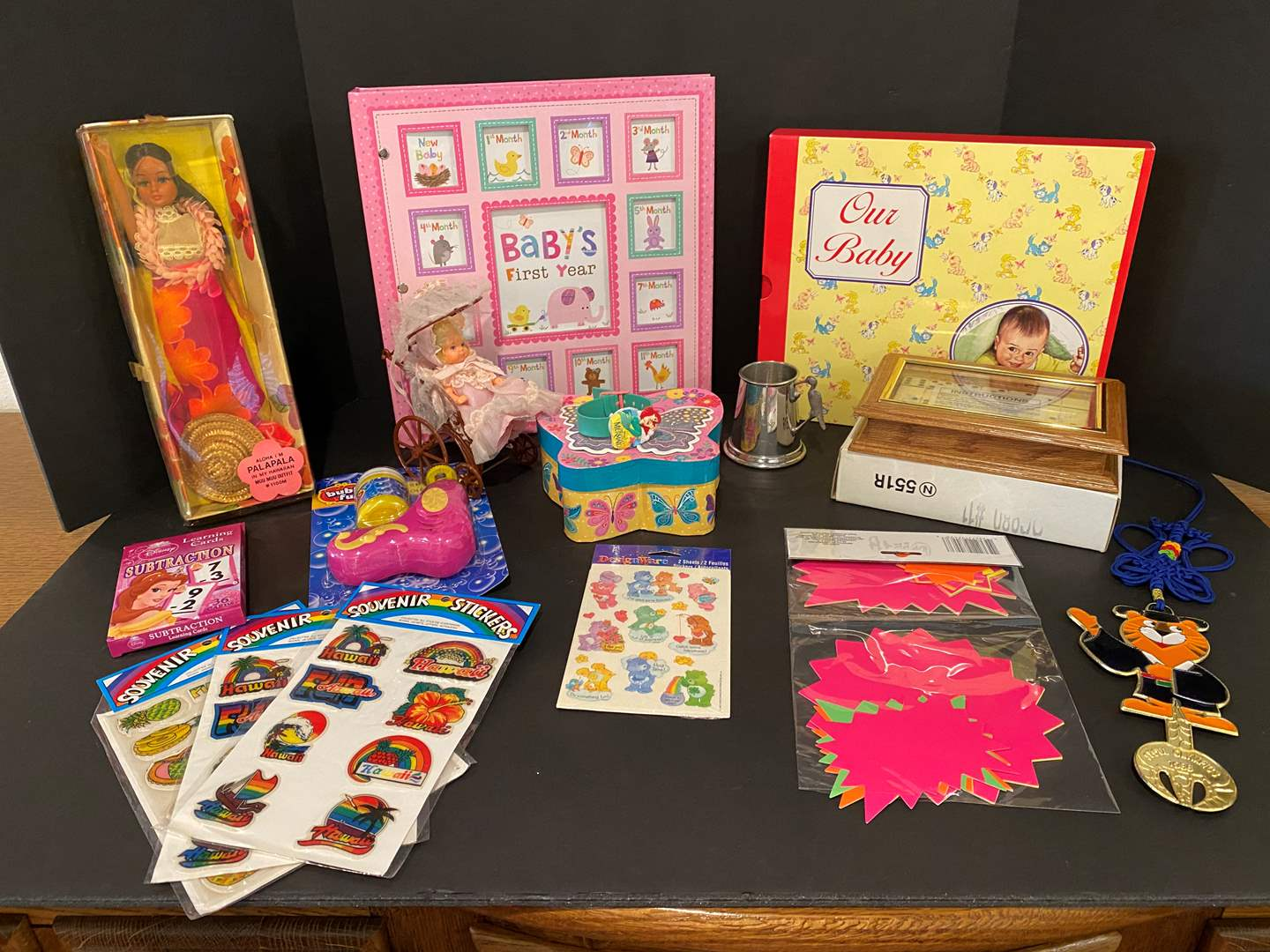 Lot # 181 - Kids Items: Baby Books, Dominos, Little Mermaid Watch, Dolls, Stickers & More.. (main image)