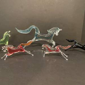 Lot # 183 - Five Glass Horses