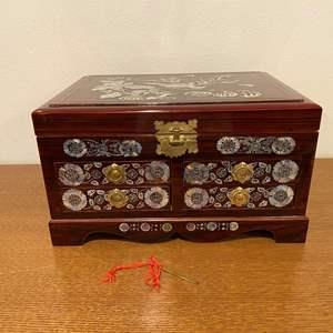 Lot # 186 - Beautiful Asian Wood Jewelry Box