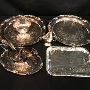 Lot # 216 - Silver Plated Items