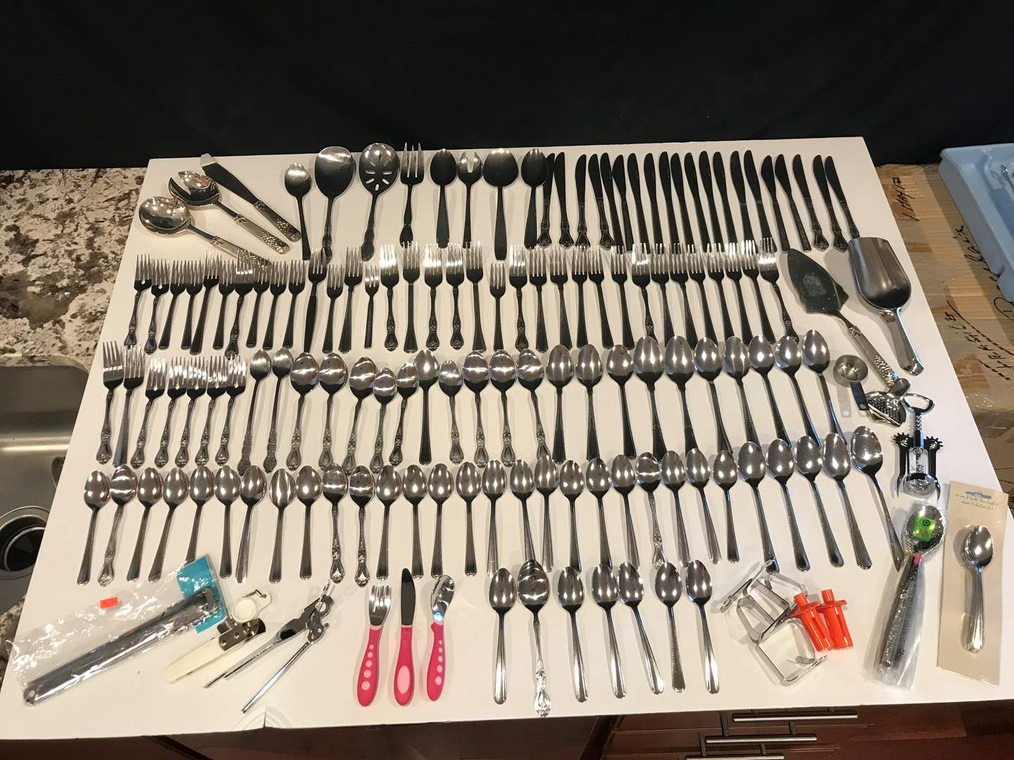 Lot # 67 - Lot of Misc. Flatware - See Pictures More Items Added After Opening Pictures (main image)