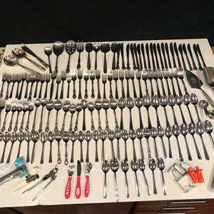 Lot # 67 - Lot of Misc. Flatware - See Pictures More Items Added After Opening Pictures