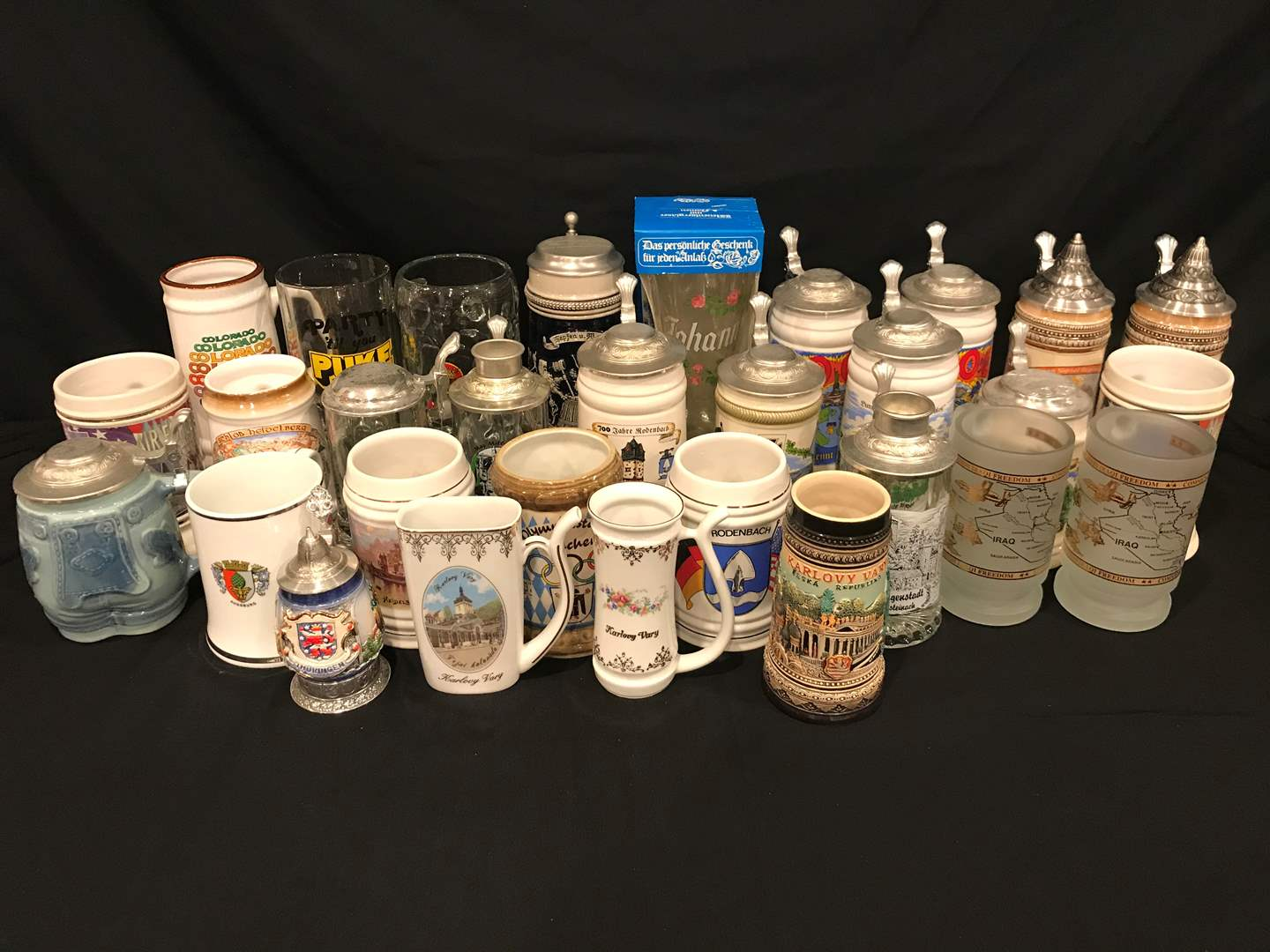 Lot # 219 - Collection of American & German Beer Steins (main image)