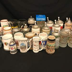 Lot # 219 - Collection of American & German Beer Steins