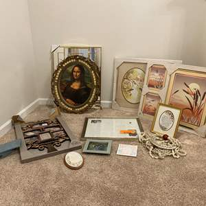 Lot # 232 - New Wall Art, Mona Lisa Print, New Picture Frames & More..