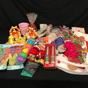 Auction Thumbnail for: Lot # 223 - Selection of Easter, Christmas, Birthday Decorations & More..