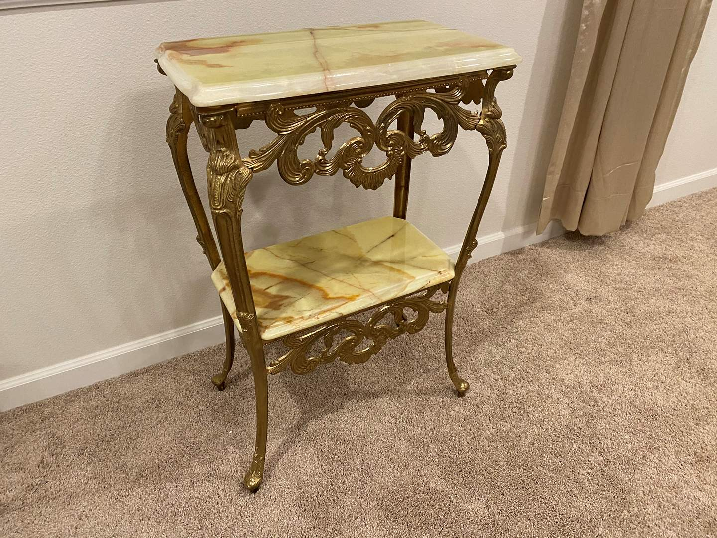 Lot # 236 - Brass & Marble Table  (main image)