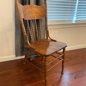 Lot # 243 - Oak Chair