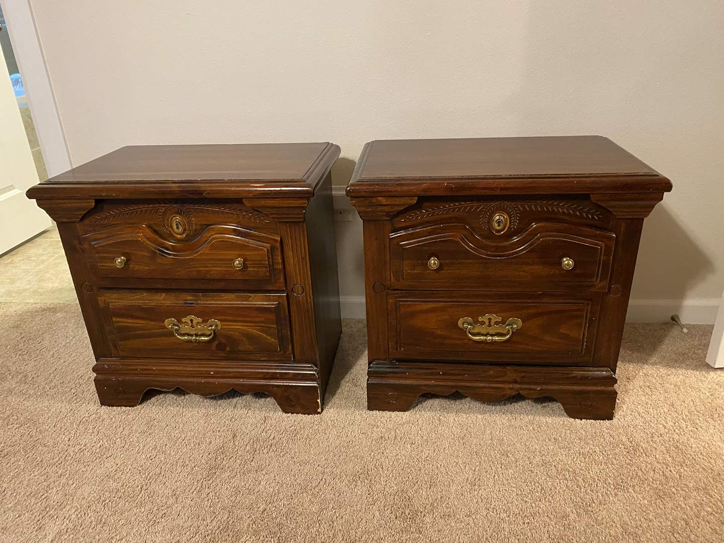 Lot # 249 - Set of Two Wood Night Stands - Matches Lot #248 (main image)