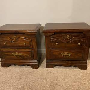 Lot # 249 - Set of Two Wood Night Stands - Matches Lot #248