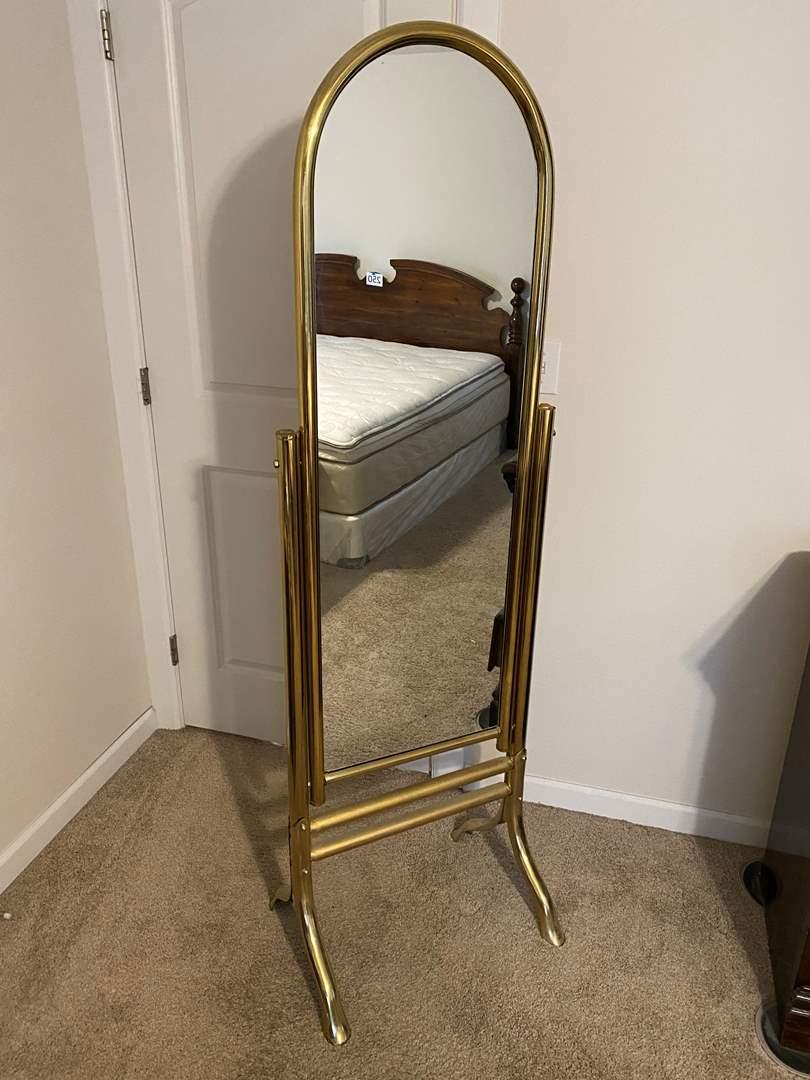 Lot # 253 - Brass Chival Mirror  (main image)