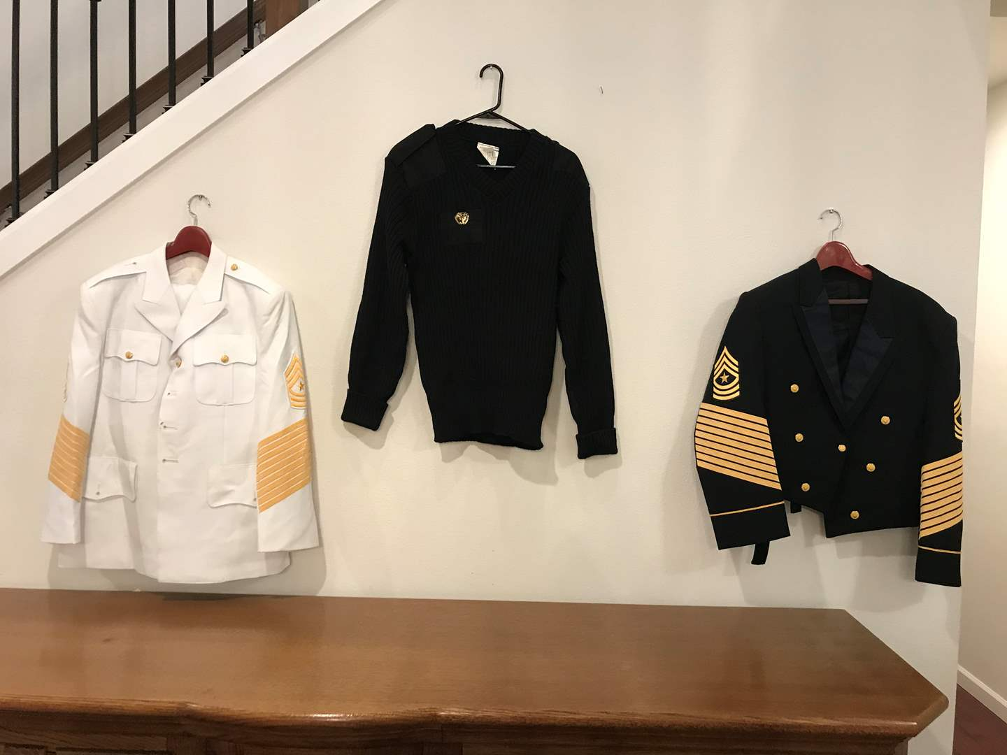 Lot # 229 - Two Formal Military Jackets, Military Sweater (main image)
